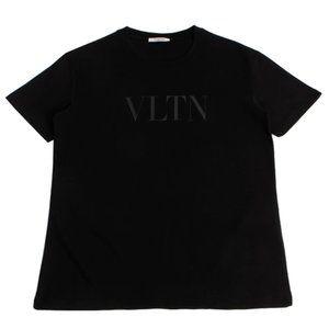 Valentino VLTN Logo Print Cotton Black T-Shirt